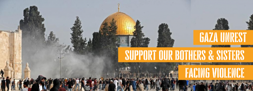 Support for Palestinian muslims